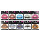Leopard Grain Pattern Rubber Tattoo Lips Sticker (10 PCS)