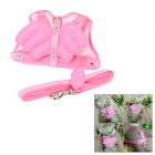 Cute Angel Wings Dog Vest w/ Leash - Pink (Size M)