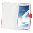 Protective PU Leather Case for Samsung Galaxy Note 2 N7100 - Red