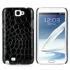 Protective Artificial Crocodile Skin Style PU Leather Case for Samsung Galaxy Note II N7100 - Black