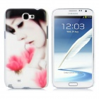 Beautiful Women Style Protective Plastic Back Case for Samsung Galaxy Note II N7100 - White