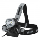 UltraFire SSC Z7 900lm 3-Mode White Bike Light Headlamp - Black + Silver (4 x 18650)