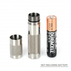 UltraFire UF-T1 Cree XP-E R5 80lm 2-Mode White Light Mini Flashlight - Silver (1 x AAA)
