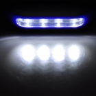 Multi-Function 2-Mode 28-LED White Light Outdoor Lamp - Black + Blue