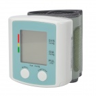 "1,5 ""LCD Stimme Wrist Stil Digital Blood Pressure Monitor - Weiß + Light Blue (2 x AAA)"