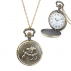 Skeleton Pattern Zinc Alloy Quartz Analog Waterproof Pocket Watch - Bronze (1 x 377)
