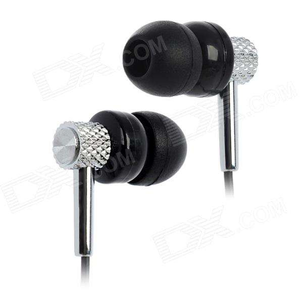 EV-518 3.5mm Plug In-Ear Earphone - Black + Silver