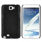 Shining Paillette Style Protective Plastic Back Case for Samsung Galaxy Note II N7100 - Black