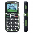"L66 Old Senior GSM Bar Phone w/ 1.8"" Screen, Quad-Band, Dual-SIM and FM - Army Green + Black"