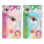 3-in-1 Resin + Plastic Eyelash Comb Baffle Brush Card - Pink + Blue