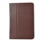 Lychee Pattern Protective PU Leather Case for iPad Mini - Coffee
