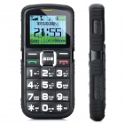 "L66 Old Senioren GSM Bar Phone w / 1,8 ""-Bildschirm, Quad-Band, Dual-SIM-Karte und FM - Black"
