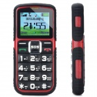 "L66 Old Senior GSM Bar Phone w/ 1.8"" Screen, Quad-Band, Dual-SIM and FM - Red + Black"