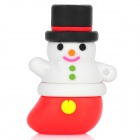 Patriot Christmas Snowman Style USB 2.0 Flash Drive with Keychain - White + Red + Black (8GB)