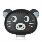 ILY Cute Cartoon Bear Style 1900mAh Mobile Power Station for iPhone 3G / 3GS / 4 / 4S - Black