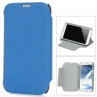 Protective PU Leather Case for Samsung Galaxy Note II N7100 - Blue + Black