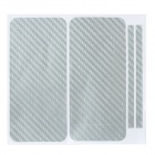 Decorative Protective Carbon Fiber Cover Skin Stickers for Iphone 5 - Silver
