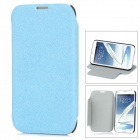 Protective PU Leather + Plastic Case for Samsung Galaxy Note II N7100 - Light Blue + Black