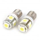 E14S 2.5W 205lm 5-SMD 5050 LED White Light Car Instrument Lamp (12V / 2 PCS)