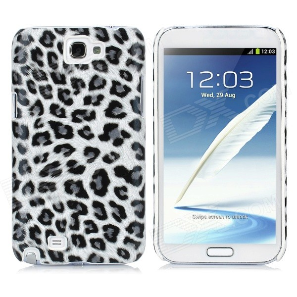 Leopard Style Protective Back Case for Samsung Galaxy Note II N7100 - Grey + Black чехол для samsung galaxy note ii n7100 yoobao executive leather розовый