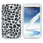 Leopard Style Protective Back Case for Samsung Galaxy Note II N7100 - Grey + Black