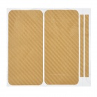 Decorative Protective Carbon Fiber Cover Skin Stickers Set for Iphone 5 - Earthy Yellow