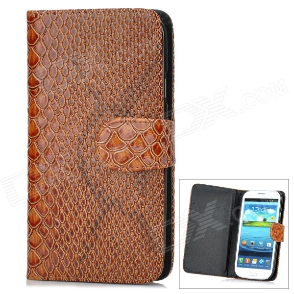 Cool Snake Skin Style Protective PU Leather Case for Samsung Galaxy S3 i9300 - Brown cool snake skin style protective pu leather case for samsung galaxy s3 i9300 brown