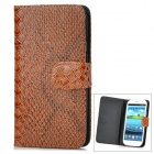 Cool Snake Skin Style Protective PU Leather Case for Samsung Galaxy S3 i9300 - Brown