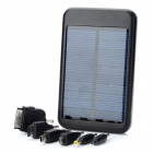 Solar Powered External 5000mAh Emergency Mobile Power Battery Charger for Cell Phone - Black