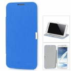 Protective PU Leather Case for Samsung Galaxy Note II N7100 - Blue + White