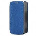 ROCK Protective PU Leather Case for Samsung Galaxy S Duos S7562 - Dark Blue