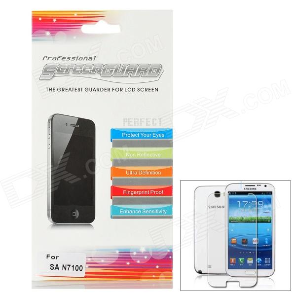 Protective Glossy Screen Protector Guard Film for Samsung N7100 Galaxy Note 2 - Transparent (3 PCS)