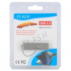Acero inoxidable de rotación en Caliente USB 2.0 Flash Drive - Silver (8GB)