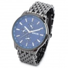 SINOBI 9268 Mannes Stainless Steel Band Quarz Analog Wasserdicht Armbanduhr - Dim Grau + Royal Blue