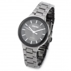SINOBI 9168 Woman's Stainless Steel Band Quartz Analog Waterproof Wrist Watch - Dim Grey + Black