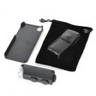 Portable 60~100X Microscope + Back Case for Iphone 5 - Black (3 x LR1130)