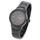 SINOBI 9338 Woman's Stainless Steel Band Quartz Analog Waterproof Wrist Watch - Black + Golden