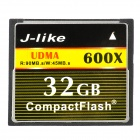 J-like CF600X-32G CompactFlash / CF Memory Card w/ Hot Plugging Function - Black (32GB / 600X)