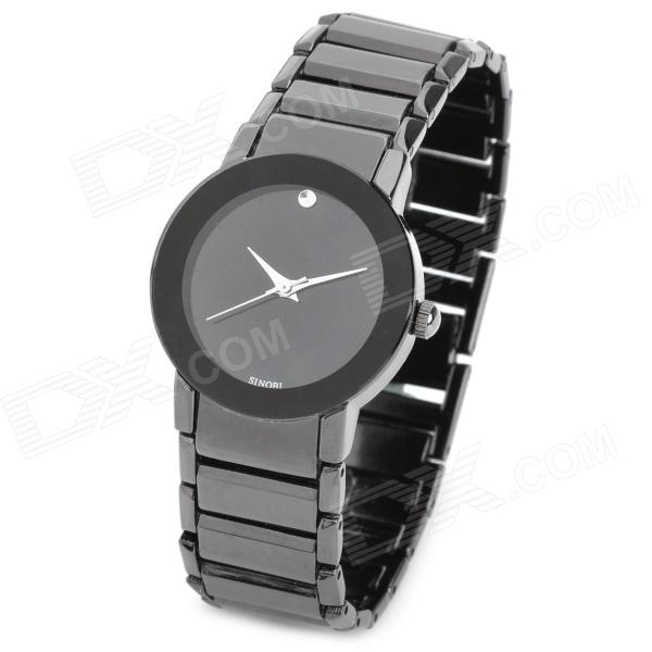 SINOBI 9106 Woman's Stainless Steel Band Quartz Analog Waterproof Wrist Watch - Black (1 x 626) arcobronze arcobronze 9106