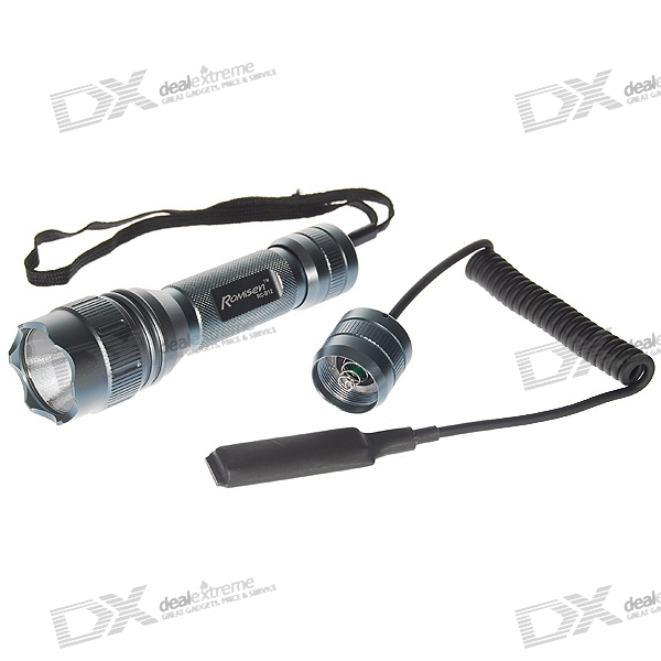 Romisen RC-B12 2-LED UV 2-Mode 230-Lumen LED Flashlight w/ Cree Q2-WC - Grey (1*18650/2*CR123A)