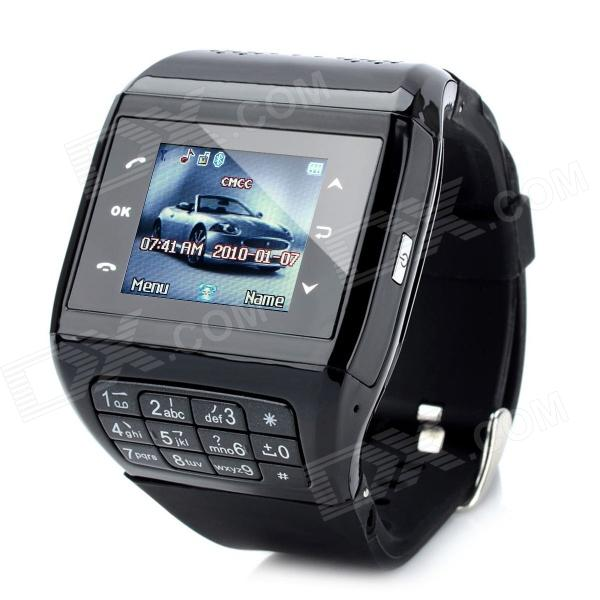 Q5 GSM Wrist Watch Phone w/ 1.3 Resistive Screen, Quad-Band, FM and Single-SIM - Black s18 gsm watch phone w 1 5 screen quad band bluetooth and fm black