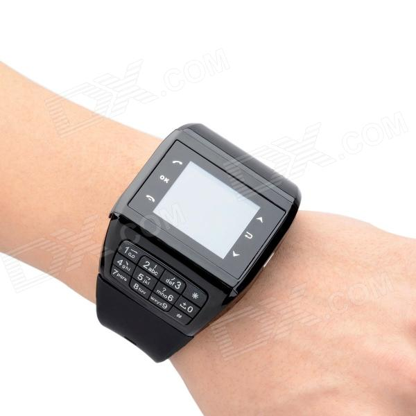 "Q5 GSM Wrist Watch Phone w/ 1.3"" Resistive Screen, Quad-Band, FM and Single-SIM - Black"