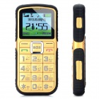 "L66 Old Senior GSM Bar Phone w/ 1.8"" Screen, Quad-Band, Dual-SIM and FM - Golden + Black"