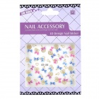 OT-24 DIY Bows Pattern Nail Art 3D Stickers (2 Sheets)