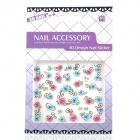OT-02 DIY Rose Pattern Nail Art 3D Stickers (2 Sheets)