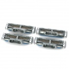 Replacement Steel Shaver Heads for Manual Razor - Green + Grey + More (4 PCS)