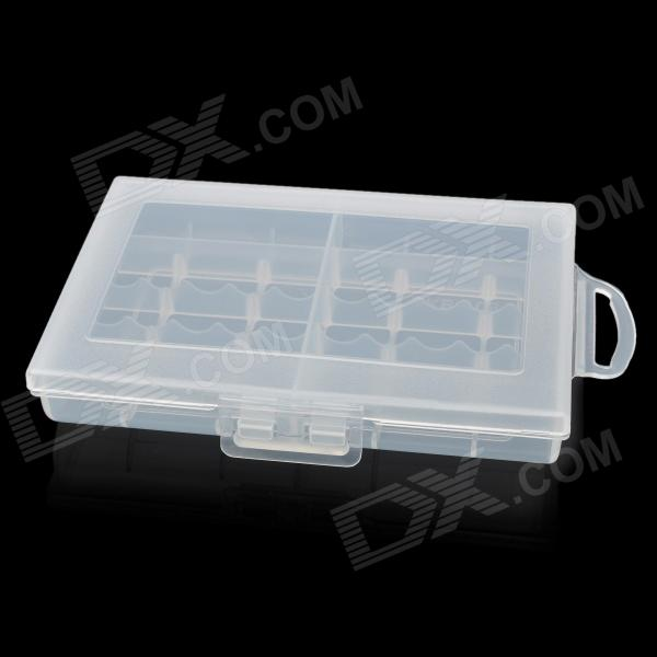 EKB-108 Plastic Battery Box for 10 x AA / AAA - Translucent White