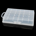 EKB-108 Plastic Battery Box for 10 * AA / AAA - Translucent White
