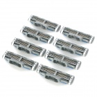Replacement Steel Shaver Heads for Manual Razor - Green + Blue + More (8 PCS)
