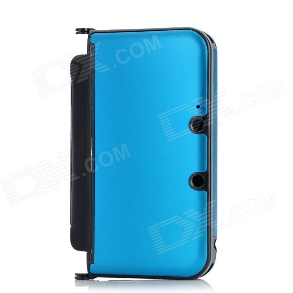 Protective Aluminum Flip Open Case for Nintendo 3DSLL / 3DSXL - Light Blue